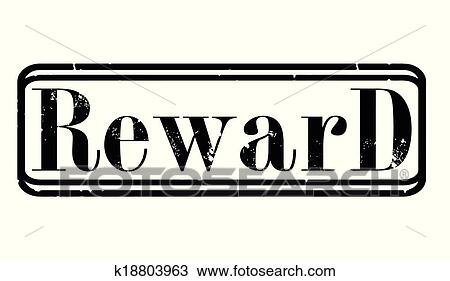 Clipart of reward stamp k18803963 - Search Clip Art, Illustration ...