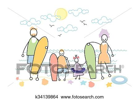 Clipart of big family holiday sea seaside holding windsurfing clipart big family holiday sea seaside holding windsurfing boards fotosearch search clip art publicscrutiny Images