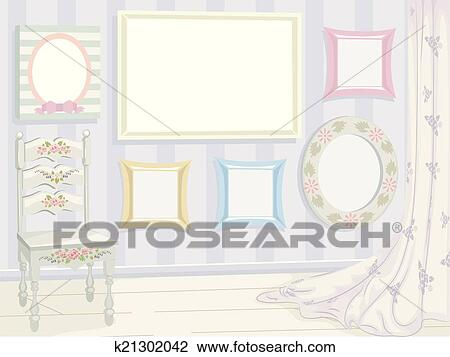 clipart sch big schick rahmen k21302042 suche clip art illustration wandbilder. Black Bedroom Furniture Sets. Home Design Ideas