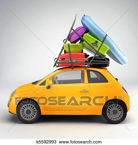 dessin voiture pr t pour voyage k5592993 recherchez des cliparts des illustrations et. Black Bedroom Furniture Sets. Home Design Ideas