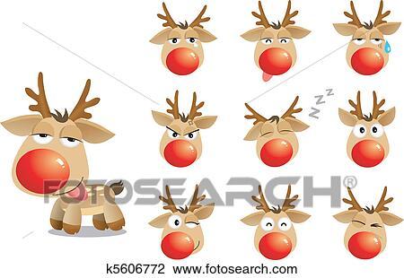 clipart karikatur weihnachten elch k5606772 suche. Black Bedroom Furniture Sets. Home Design Ideas