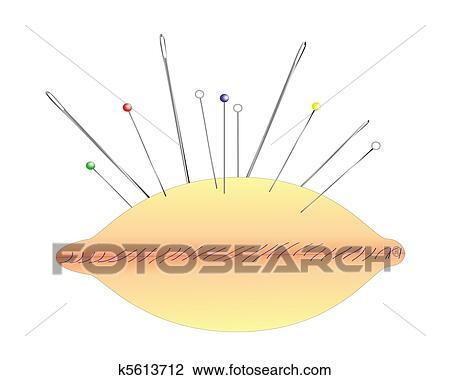 Clipart coussin aiguilles et epingles k5613712 - Coussin tapissier grand format ...