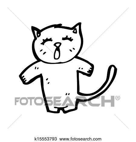 手绘图 - 有趣, 卡通漫画, 猫图片