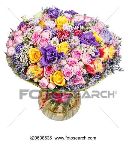 stock bild - strauß blumen, in, glas vase, freigestellt k20638635, Best garten ideen