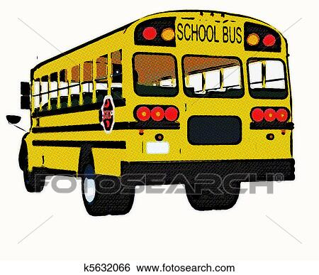 Stock Illustration of Yellow american school bus k5632066 ...