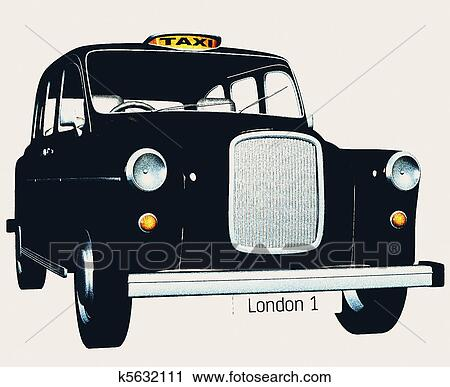Free download of London Cab vector graphics and illustrations