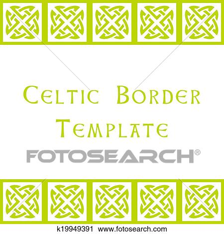 Clipart of celtic border template k19949391 search clip art celtic border template yadclub Images