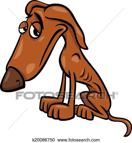 Clipart of poor hungry dog cartoon illustration k20086750 ...
