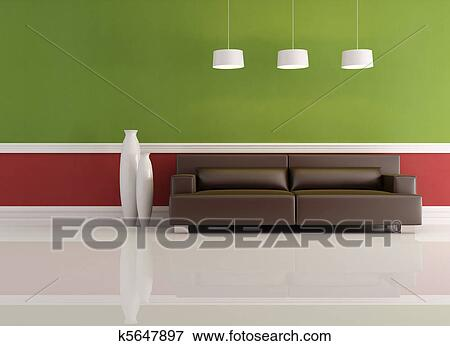 emejing wohnzimmer rot grun gallery - amazing design ideas