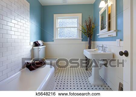 stock bilder antiker luxus design von blau badezimmer k5648216 suche stockfotografie. Black Bedroom Furniture Sets. Home Design Ideas