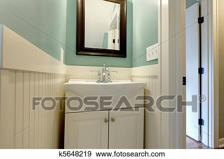 Stock Photograph Of Luxury Fresh Green Blue And White Modern Bathroom Sink K5648219 Search