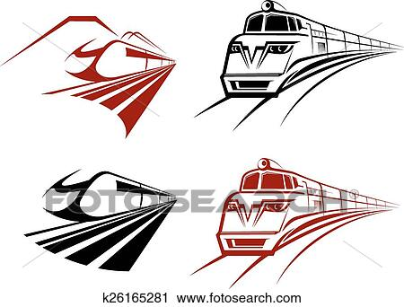 clipart of stylized speeding train or subway icons k26165281 rh fotosearch com subway clipart png subway clipart free