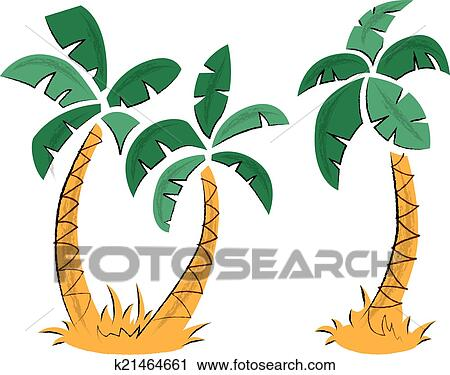剪贴画 - 热带, 棕榈树图片