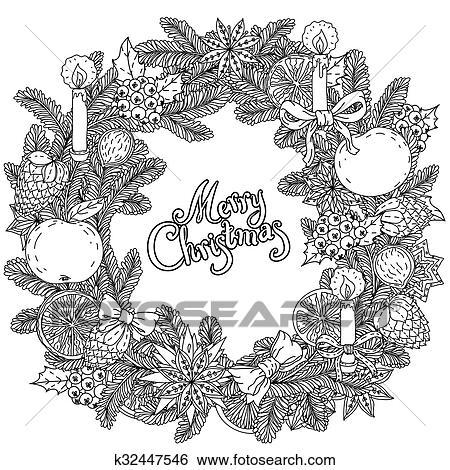 clip art kreis weihnachten kugeln ornament k32447546 suche clipart poster. Black Bedroom Furniture Sets. Home Design Ideas