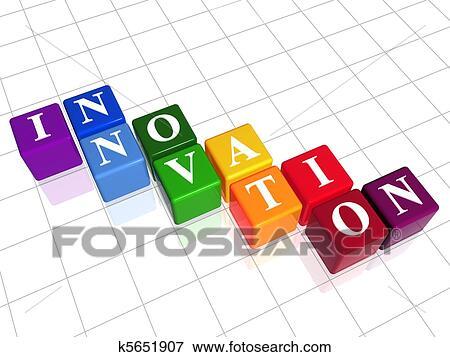 banque d 39 illustrations innovation dans couleur k5651907 recherche de cliparts au format. Black Bedroom Furniture Sets. Home Design Ideas