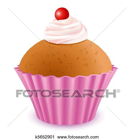 Yummy Cake Art : Clipart of Yummy Cup Cake k5652901 - Search Clip Art ...