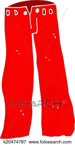 Clip Art of cartoon red pants k20474787 - Search Clipart ...