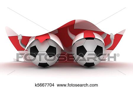 手绘图 - 二, 足球, 握住, 腺, 旗图片