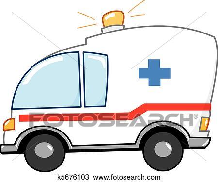 clipart of ambulance cartoon k5676103 search clip art rh fotosearch com clipart ambulance gratuit clipart ambulance free