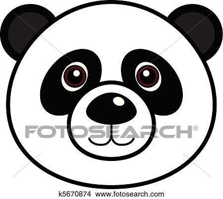 clipart of cute panda vector k5670874 search clip art rh fotosearch com panda vector free download panda vector art