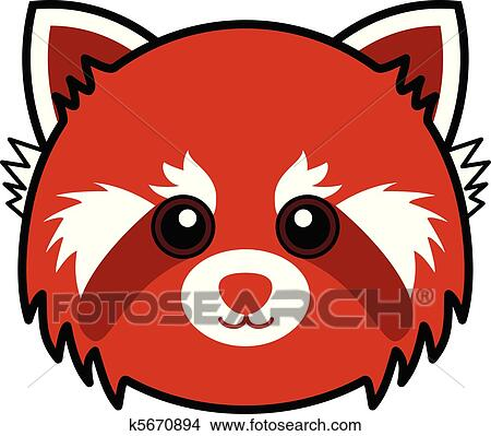 clipart of cute red panda vector k5670894 search clip art rh fotosearch com cute panda clipart images