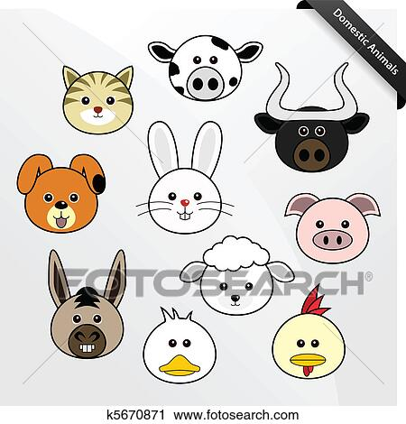clipart of domestic animal cute cartoon k5670871 search