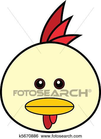 剪贴画 - 漂亮, 小鸡,