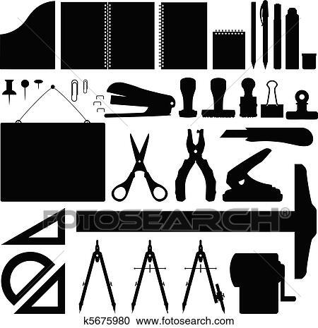 Clipart - ufficio, stationery, set, vettore k5675980 - Cerca ...