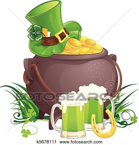 Clipart of Saint Patrick's Day symbols k5678111 - Search ...