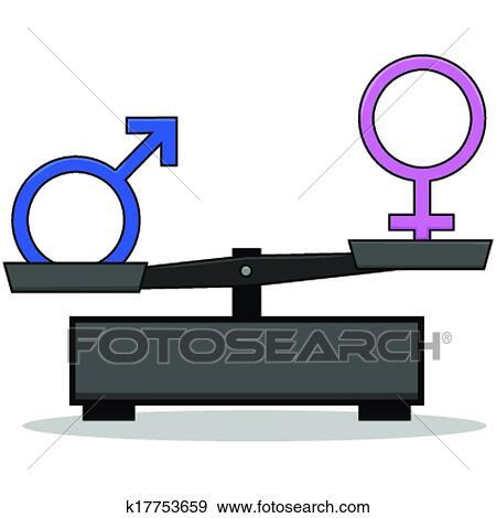 clip art of sex inequality k17753659 search clipart illustration rh fotosearch com safe sex clipart sax clip art
