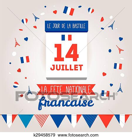 Clip art of greeting card design for the bastille day 14 july clip art greeting card design for the bastille day 14 july fotosearch search m4hsunfo