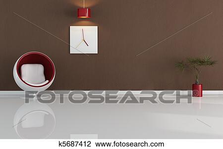Clip art modernes minimal wohnzimmer k5687412 suche for Minimal art kunstwerke
