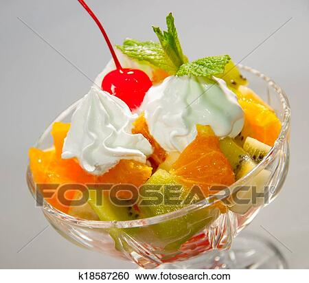Фото-рецепты фруктовых салатов заправленных сливками