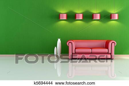 Design : wohnzimmer rot grün ~ Inspirierende Bilder von Wohnzimmer Dekorieren