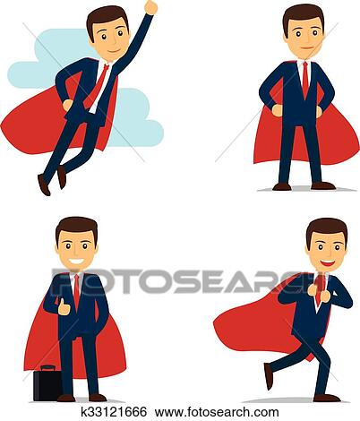 clip art of businessman superhero vector k33121666 search clipart rh fotosearch com 3d businessman clipart businessman clipart vector