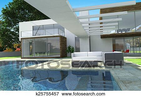 picture luxury modern mansion exterior fotosearch search stock photography photos prints