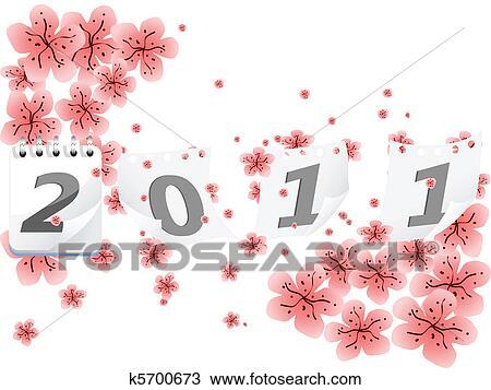 剪贴画 新年, 2011, 矢量