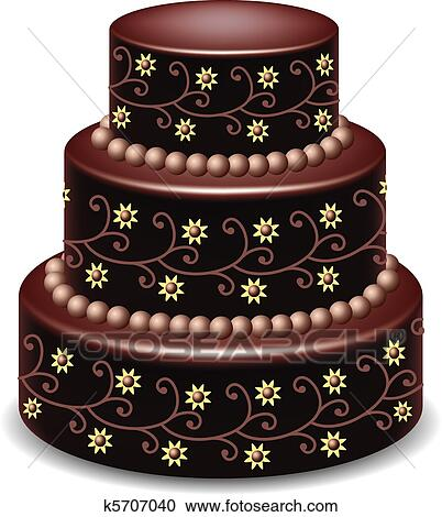 Chocolate Cake Clipart : Clipart of chocolate cake k5707040 - Search Clip Art ...