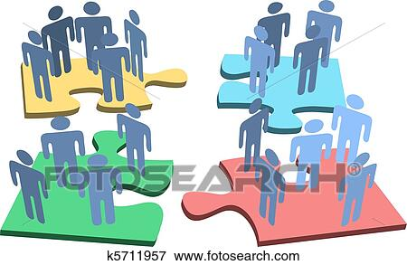Clip Art - menschlich, personengruppe, organisation ...