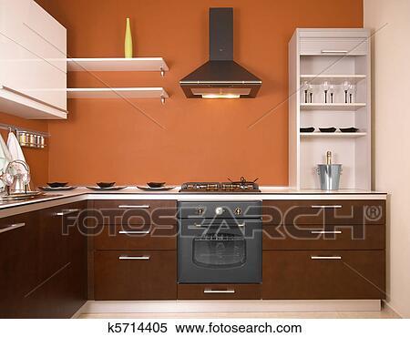 스톡 이미지 - 현대, 부엌 k5714405 - 스톡 포토, 벽화 그림, 사진 ...