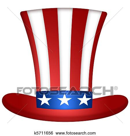 stock illustration of uncle sam hat k5711656 search clip art rh fotosearch com 4th of July Clip Art Bing Images of Uncle Sam