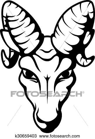 clipart of angry ram head mascot tattoo k30659403 search clip art rh fotosearch com ram clipart computer ram head clipart