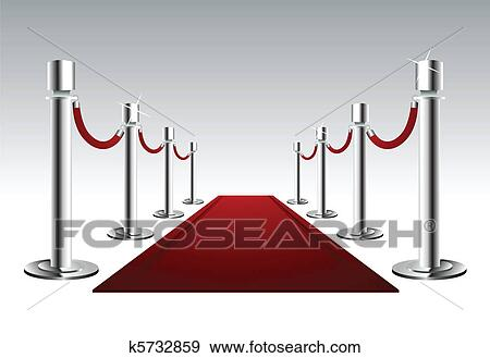 Clip Art of Luxury Red Carpet k5732859 - Search Clipart ...