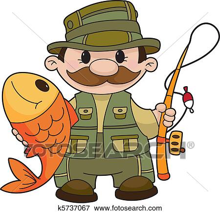 Clip Art Fisherman Clipart fisherman clipart and illustration 5106 clip art fisherman