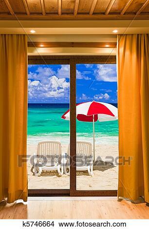 Dessins chambre h tel et plage paysage k5746664 for Recherche chambre hotel