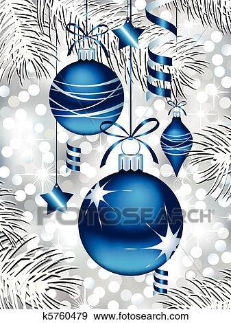 Clip art blau christbaumkugeln k5760479 suche clipart for Christbaumkugeln blau