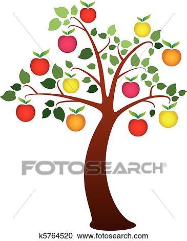 剪贴画 - 苹果树图片