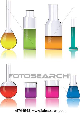Clipart of laboratory glassware k5764543 - Search Clip Art ...
