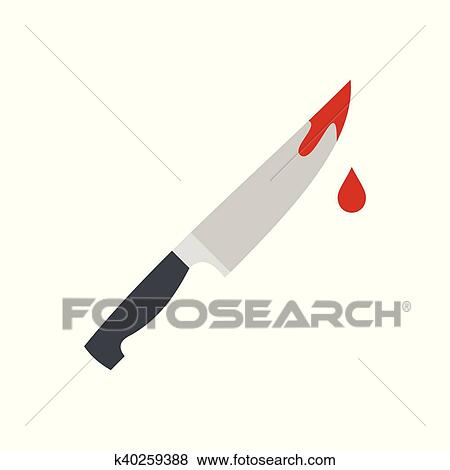 clip art of bloody knife icon flat style k40259388 search clipart rh fotosearch com Knife with Blood School Clip Art