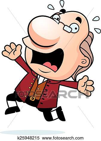 clipart of cartoon ben franklin panicking k25948215 search clip rh fotosearch com ben franklin kite clipart benjamin franklin clipart download